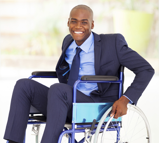 optimistic disabled african american